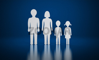 Die kleine Familie blau