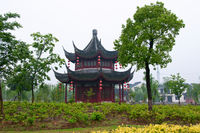 The architecture structure of Chinese pavilion and house