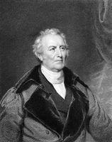 John Trumbull (1756-1843) on engraving from 1834.  American painter during the period of the American Revolutionary War. Engraved by A.B Durand and published in ''National Portrait Gallery of Distinguished Americans''