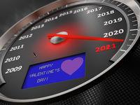 The speedometer Happy Valentine's Day