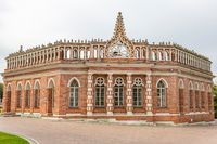 Part of the architectural ensemble in Tsaritsyno park. Moscow, Russia