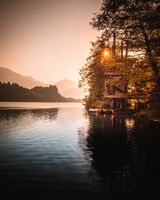 Lake Bled Slovenia on a autumn morning
