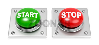 Start and Stop Buttons on White