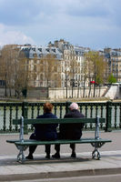 Rentner an der Seine