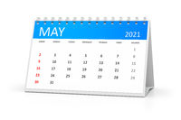 table calendar 2021 may