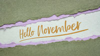 Hello November welcome note