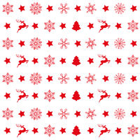 Red Christmas Patterns Snowflakes Rentier Tree