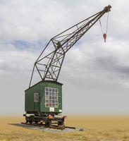 historic rail crane