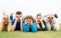 Family enjoying their holidays