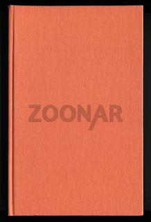 Bucheinband aus orangem Stoff