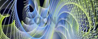 Fantastic eco particle panorama background design illustration