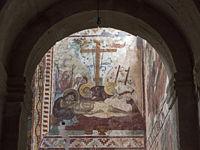 Wandmalereien in der Georgisch-Orthodoxen Gottesmutterkirche  mit der Darstellung der Grablegung Christi