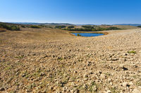Pond for irrigation in Italy