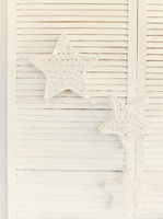 Decorative stars  on white background
