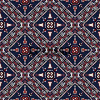 Palestinian embroidery pattern 306