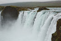 The Godafoss (Icelandic: waterfall of the gods) is a famous waterfall in Iceland. The breathtaking landscape of Godafoss waterfall attracts tourist to visit the Northeastern Region of Iceland