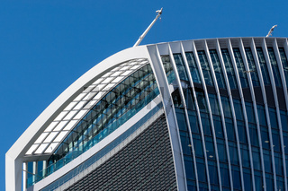 Close-up view of the Walkie Talkie building in London