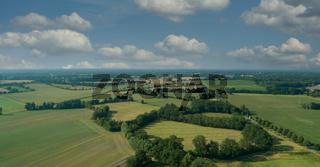 Drohnen Luftaufnahme von diversen Agrarfeldern in Schleswig Holstein