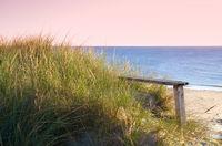 bench on the coastline