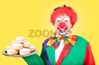 clown with berlin pancakes