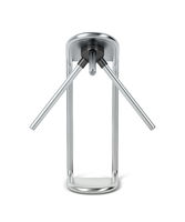 Silver turnstile on white background