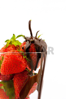 strawberries in the glass