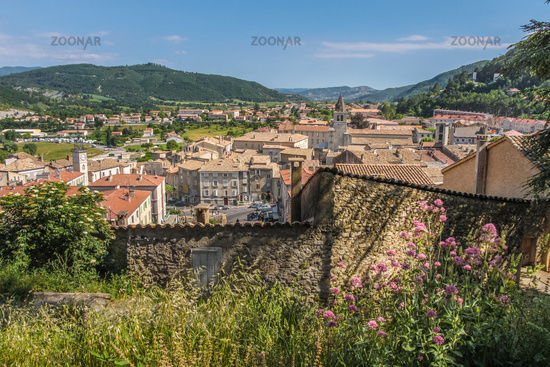 View of the old town of Sisteron