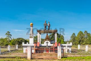 Krypta und Grab auf der Insel Samosir im Tobasee auf der Insel Sumatra