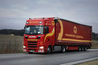 Red Next Generation Scania Semi Trailer