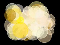 Abstract yellow circles illustration background