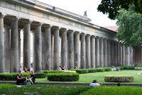 Coloonade in the Alte Nationalgalerie museum in Berlin