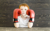 boy with boxing gloves