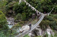Suspension bridge in Annapurna Region