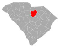 Karte von Kershaw in South Carolina - Map of Kershaw in South Carolina