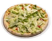 Caesar pizza. Isolated image on white background.