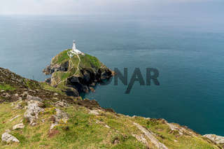 South Stack Lighthouse, near Holyhead, Anglesey, Gwynedd, Wales, UK