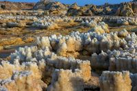 Detail of crystals in Dallol, Danakil desert