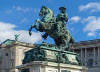 Statue auf dem Heldenplatz in Wien, Oesterreich