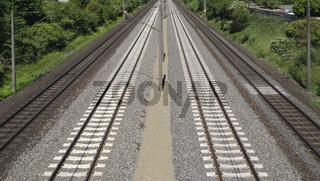 Viergleisige Bahnstrecke, Deutschland