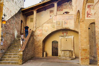 Courtyard of the Museo Civico - San Gimignano