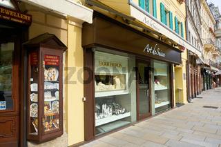 teure Geschäfte in der Altstadt von Karlovy Vary