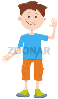 kid boy cartoon comic character