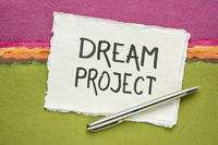 dream project - handwriting on a handmade paper