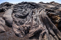 Lava flow detail on Pico do Fogo, Cape Verde