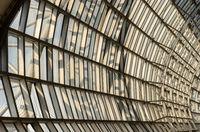 Steel roof modern building
