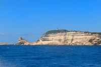 Lighthouse on island Corsica near Bonifacio