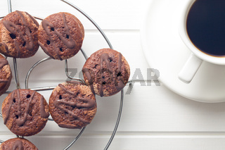 sweet dessert with chocolate and fruity jam