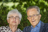Pensioner portraits with glasses
