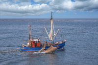Shrimp Boat at North Sea,Wattenmeer National Park,Germany