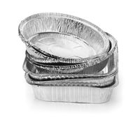 Various disposable aluminium foil baking dishes